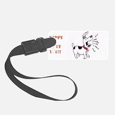 Lil Yappers Stencil Retangle Luggage Tag