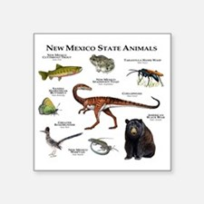 "New Mexico State Animals Square Sticker 3"" x 3"""