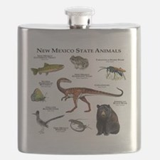 New Mexico State Animals Flask