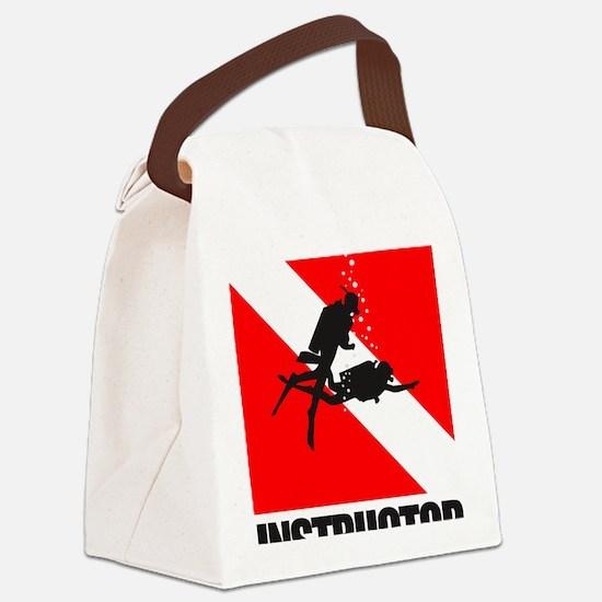 Dive Instructor (blk) Canvas Lunch Bag