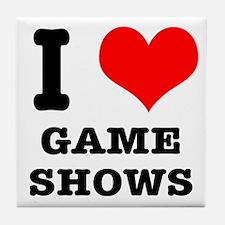 I Heart (Love) Game Shows Tile Coaster