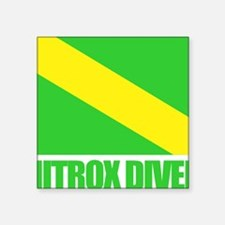 "Nitrox Diver Square Sticker 3"" x 3"""