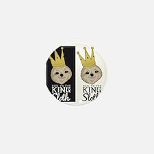 King Sloth Mini Button