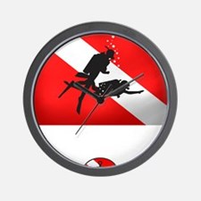Salvage Diver 2 (back)(white) Wall Clock
