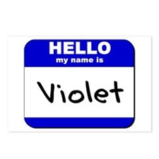 hello my name is violet  Postcards (Package of 8)
