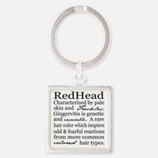 Red Head Square Keychain