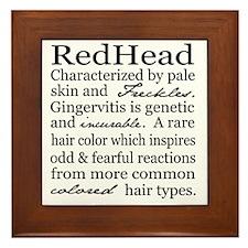 Red Head Framed Tile