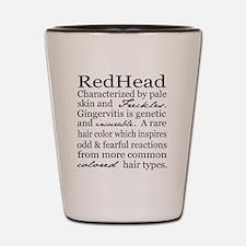 Red Head Shot Glass