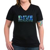 Dive bonaire Womens V-Neck T-shirts (Dark)