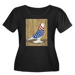 Patriotic West Women's Plus Size Scoop Neck Dark T