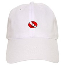Wreck Diver 2 (front)(white) Baseball Cap