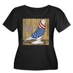 Patriotic Hobby West Women's Plus Size Scoop Neck