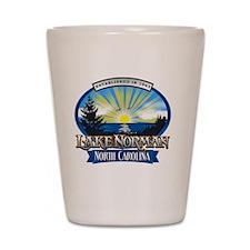 Lake Norman Sun Rays Logo Shot Glass