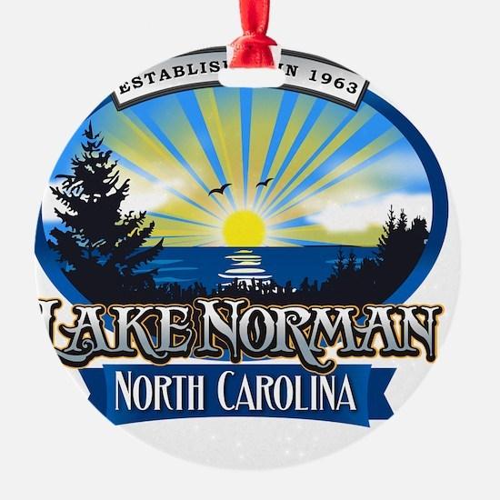 Lake Norman Sun Rays Logo Ornament