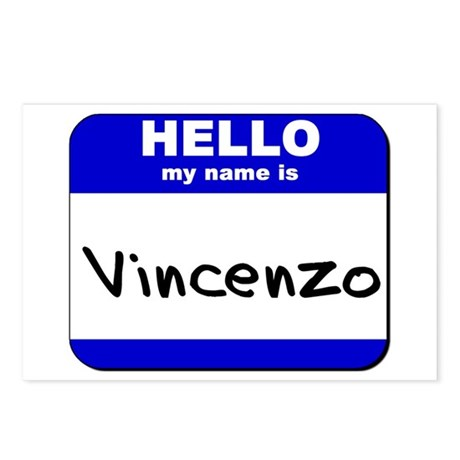 hello my name is vincenzo Postcards (Package of 8