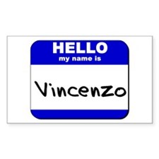 hello my name is vincenzo Rectangle Decal