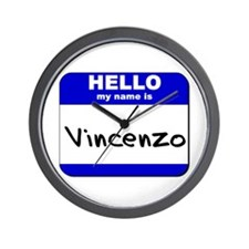 hello my name is vincenzo  Wall Clock