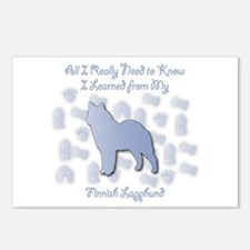 Learned Lapphund Postcards (Package of 8)
