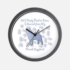 Learned Lapphund Wall Clock