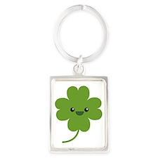 Four Leaf Clover Portrait Keychain