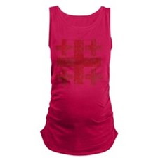 Pretty red christian cross 3 U  Maternity Tank Top