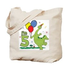 Dino 5th Birthday Tote Bag
