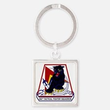 494th TFS Panthers Square Keychain