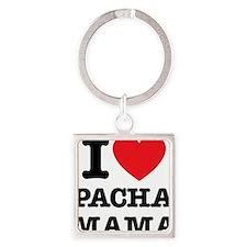 i love pachamama Square Keychain