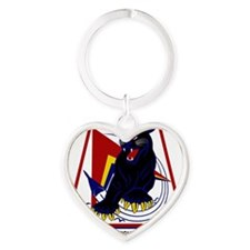 494th TFS Panthers Heart Keychain