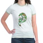 Green Dragon Women's Mint Ringer T-Shirt