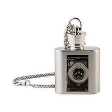 Retro camera Flask Necklace