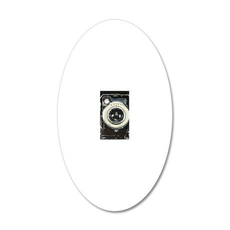 Retro camera 20x12 Oval Wall Decal