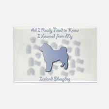Learned Sheepdog Rectangle Magnet (100 pack)
