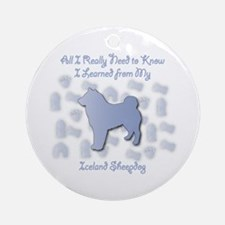 Learned Sheepdog Ornament (Round)