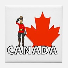 Canadian Mountie Tile Coaster