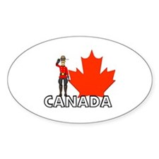 Canadian Mountie Oval Decal