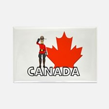 Canadian Mountie Rectangle Magnet
