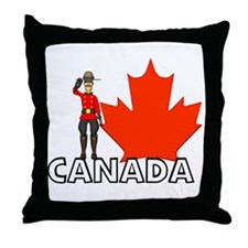 Canadian Mountie Throw Pillow