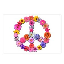Peace Flowers Postcards (Package of 8)