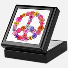 Peace Flowers Keepsake Box