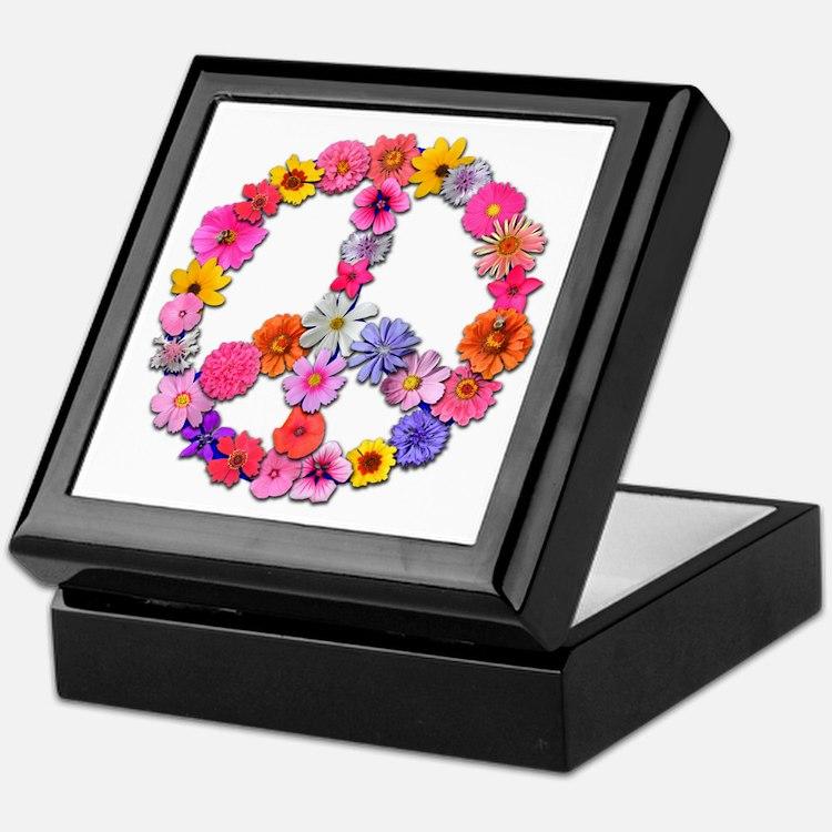 Peace Flowers Keepsake Box