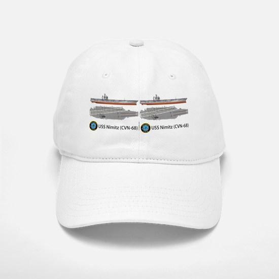 USS Nimitz CVN-68 Baseball Baseball Cap