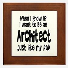 WIGU Architect Dad Framed Tile