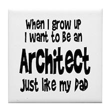 WIGU Architect Dad Tile Coaster