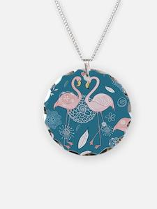 Cute Flamingos Necklace