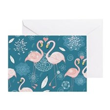 Cute Flamingos Greeting Card
