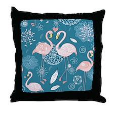 Cute Flamingos Throw Pillow