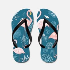 Cute Flamingos Flip Flops
