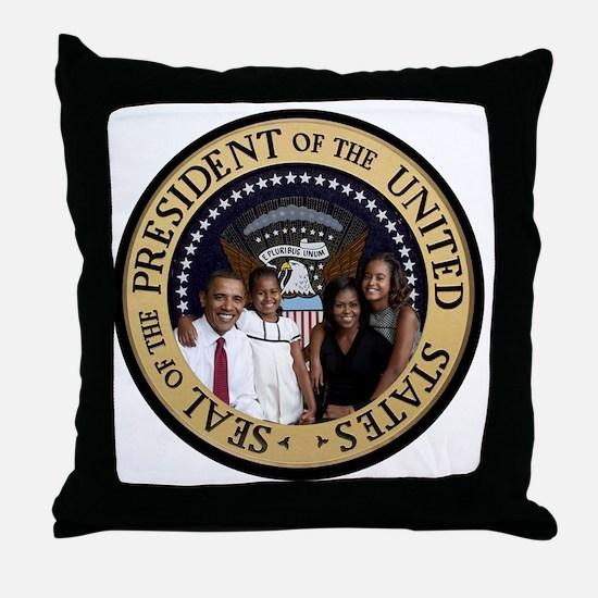 Obama First Family T SHirt Throw Pillow
