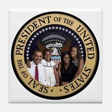 Obama First Family T SHirt Tile Coaster